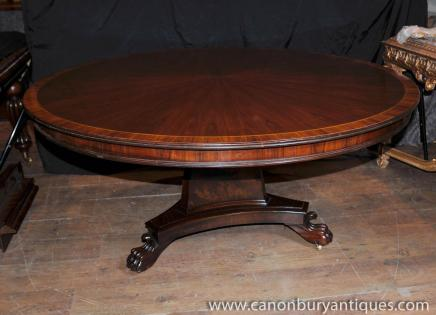 Regency Round Centre Table Dining Tables Rosewood