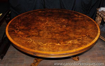 Walnut Victorian Marquetry Centre Table Dining Table Furniture