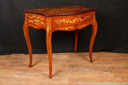 French Empire Console Table Hall Tables Marquetry Inlay Furniture