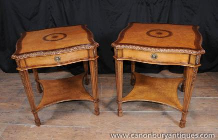 Pair George II Satinwood Side Tables Occasional Cocktail Sofa Table