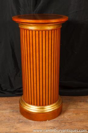 Regency Pedestal Table Column Support Classical Antiquity Furniture