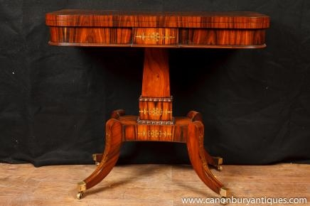 Single Regency Games Card Table Occasional Side Tables Rosewood Furniture