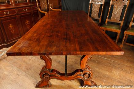 Spanish Refectory Table Oak Kitchen Dining Tables Farmhouse Furniture