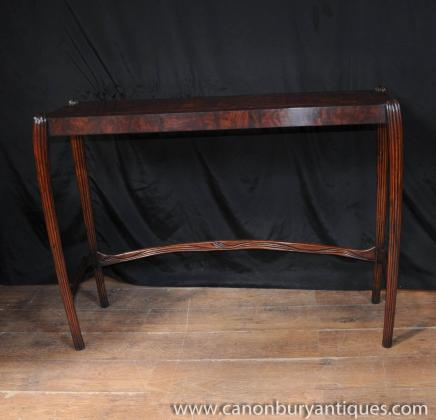 Walnut English Art Nouveau Console Table Hall Tables 1930s Furniture