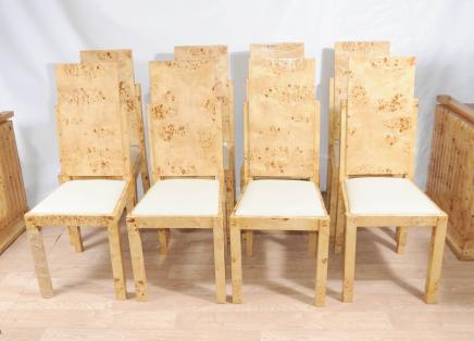 8 Art Deco Dining Chairs Set Chair Modernist Furniture