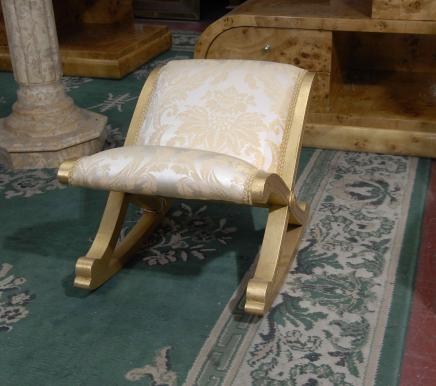 French Empire Stool foot Rest Giltwood