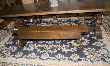 Oak 19th Century Lift Top Bench Farmhouse Seat