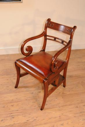 Regency Metamorphic Chair Library Steps Arm Chairs Ladder