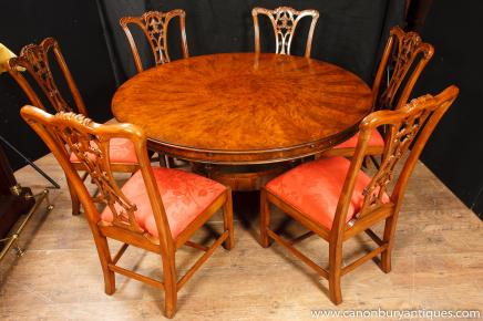 Regency Jupes Dining Table Walnut Extending Tables