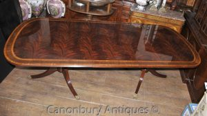 a1a35d2a51da4 Regency Extending Pedestal Dining Table Flame Mahognay English