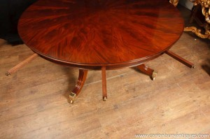 Regency Jupes Table Round Expanding Dining Table