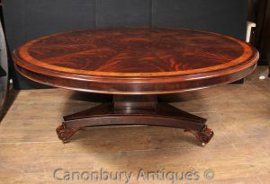 Regency Round Dining Table Flame Mahogany Centre Tables