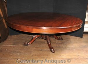 Victorian Round Mahogany Dining Table or Centre Tables