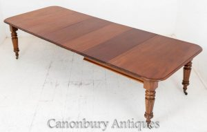 Early Victorian Extending Dining Table Mahogany Furniture
