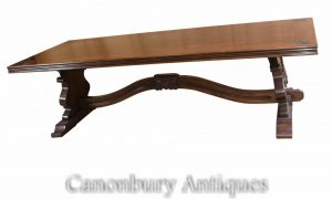 French Oak Farmhouse Dining Refectory Table Fleur De Lys