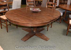 Oak Oval Refectory Table Farmhouse Kitchen Dining