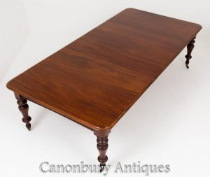 Victorian Dining Table - Extending Mahogany Tables Circa 1860
