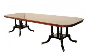 Regency Pedestal Dining Table in Flame Mahogany