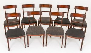 Set Mahogany Regency Dining Chairs Circa 1920