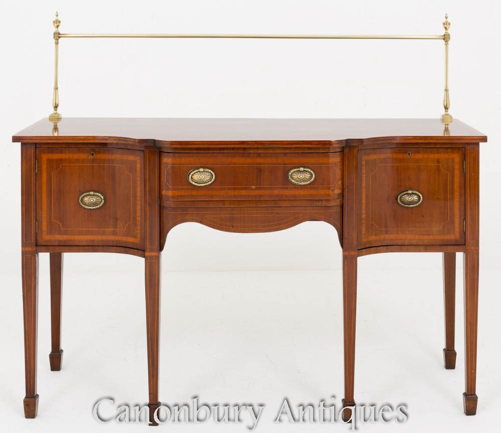 Sheraton Revival Sideboard - Mahogany Server 1880