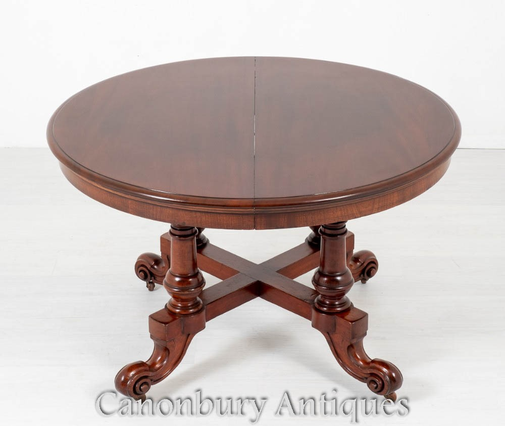 Victorian Dining Table - Round Extending Circa 1860